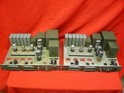 US Signal Corps Western Electric 6L6 6SL7 Tube 115-230V Power Amplifiers [Pair]