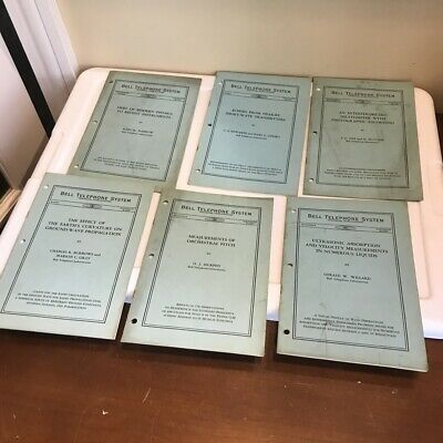 Estate Antique The Bell System Technical Journal Book Journals LOT SET 1941