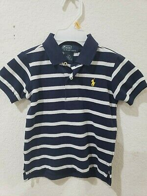 NWOT Boys Ralph Lauren Navy Blue White Short Sleeve Polo Shirt Size 12M