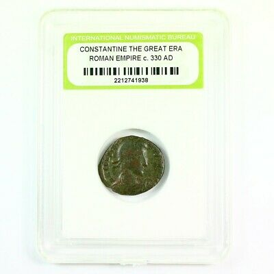 Slabbed Ancient Roman Constantine the Great Coin c330 AD Exact Coin Shown rm4406