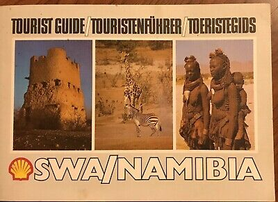 Rare Vintage Shell Oil Tourist Guide South West Africa Namibia Maps Attractions