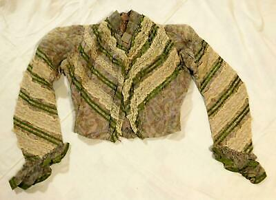 Antique Victorian / Edwardian Bodice Paisley and Lace