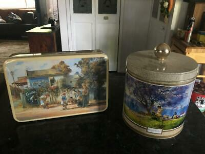 Vintage Darcy Doyle Biscuit Tins/Billy Tin  - Darcy Doyle 1996/1997- Two -