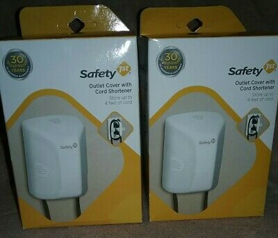🔴NEW! SAFETY 1st OUTLET COVER AND CORD SHORTENER - PACK OF TWO