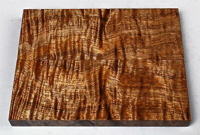 Stabilized Curly Koa Exotic Wood Knife Scales, Turning, Craft Wood  SCL8189