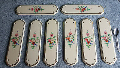 Vintage Porcelain Door Plates. 8 Identical Ones And All In Excellent Condition.