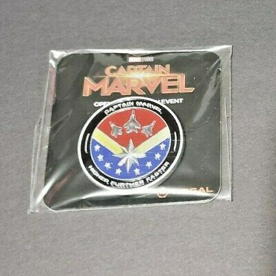 Captain Marvel (2019) SWAG Promo Coin (PAINTED) Fan Event Disney