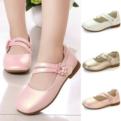 Infant Toddler Kids Baby Girl Flower Leather Single Princess Party Shoes Sandals