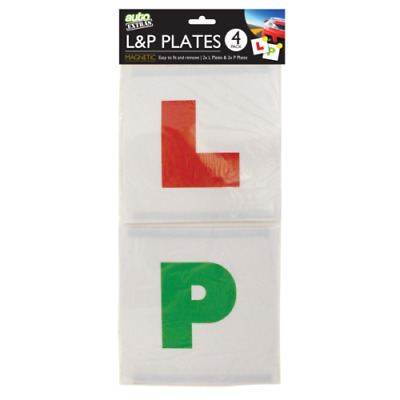 New Plates L&P Magnetic| New Learner Driver L-Plate Secure Just Pass P-Plate Set