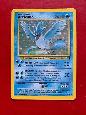 Lotto Carte Pokemon Articuno 2/110 Legendari Collection Holo Rarissimo Inglese