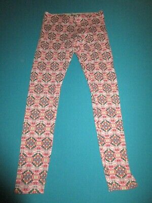 ABERCROMBIE Girls Pink Blue Gray Leggings Size Large L