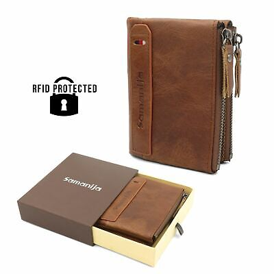 NEW Luxury RFID SAFE Urban Luxury Brown Leather Credit Card Holder Gift Boxed