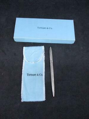 Tiffany & Co Sterling Silver Ball Point Pen Boxed With Pouch