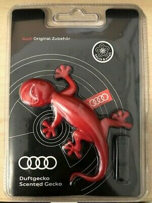 Audi Genuine Red Gecko Air Freshener-Flowery scent