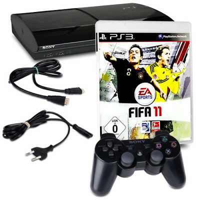 PLAYSTATION 3 - PS3 Super Slim 500 GB 4004C+ Nero Orig. Pad + Gioco Fifa 11