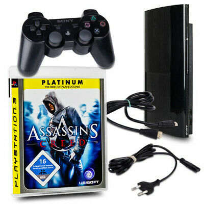 PLAYSTATION 3 PS3 Console Super Slim 500 GB Cech-4204C Nero + Assassins Creed