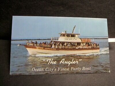 "Party Boat ""The ANGLER"" Ocean City, MD Naval Cover unused postcard"