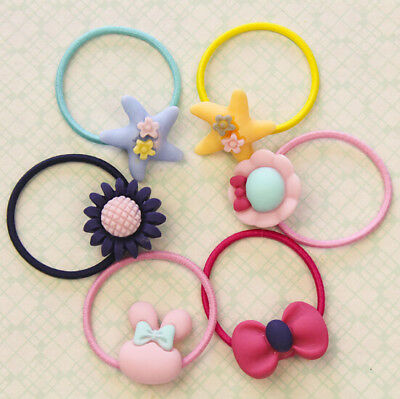 10Pcs KIds Girl Candy Color Hair Band Ties Rope Ring Elastic Ponytail Hairband