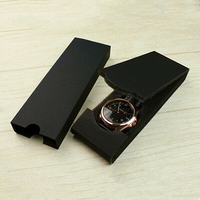 Luxury Black Carton Box For Watch Folding Package Jewelry Storage Organizer Box