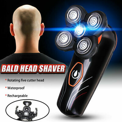 5in1 Men's Electric Shaver Rechargeable Cordless Skull Head Clipper Trimmer