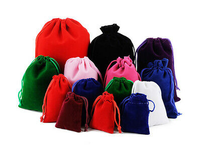 10-50pcs Velvet Drawstring Gift Bags Wedding Jewelry Candy Storage Party Pouch
