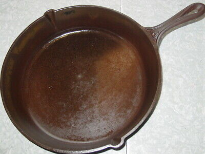 Antique Gate Mark Cast Iron Skillet Frying Pan 9 Heat Ring Civil War 1800s as is
