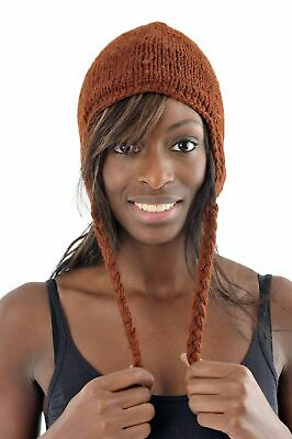 Bonnet marron clair pure laine et polair