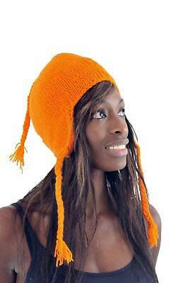 Bonnet orange pure laine et polaire douc