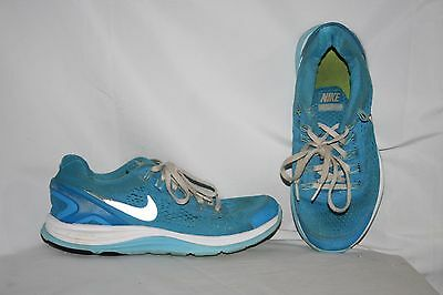 Nike Lunar Glide 4 Girls Sneakers Size 5 Y Youth Blue White Gray Tennis Shoes