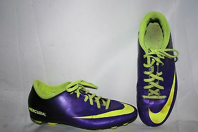 Nike Jr Mercurial Vortex Youth Boys Girls Cleats Size 6 Y Green Sports Shoes