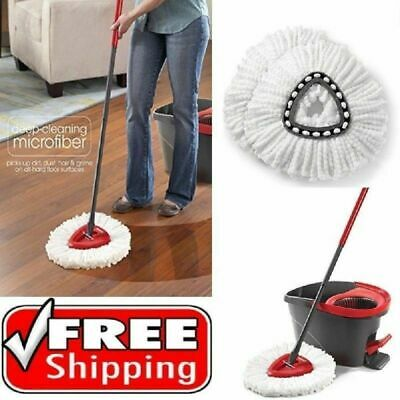 1/2/4Pcs Vileda Easy Wring Mopping&Clean Microfibre Mop Refill Head Replacement