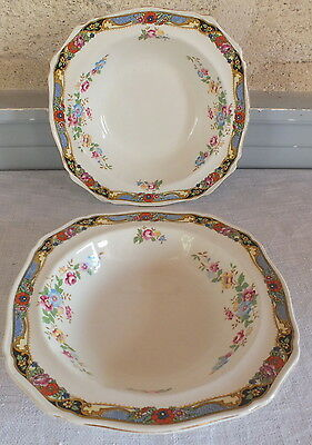 Alfred Meakin 2 x Ports of Call Herat Cereal Bowls Fine Bone China / Teapot/