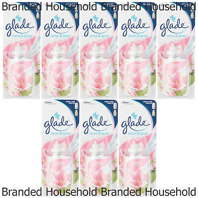 8 X Glade Sense And Spray Refills Automatic Air Freshener Floral Blossom