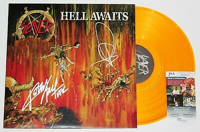 Slayer Signed Hell Awaits Lp Vinyl Record Album Kerry King Tom Araya +Jsa Coa