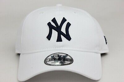 515747b4dc8a01 New York Yankees White Navy MLB New Era 9Twenty Adjustable Strapback Dad Hat  Cap
