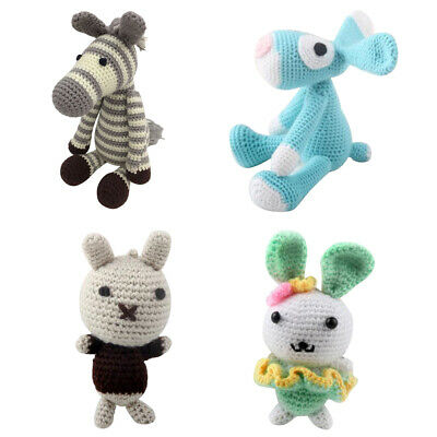 4x Animal Amigurumi Crochet Kit - DIY Toy Material Package - Children Gifts