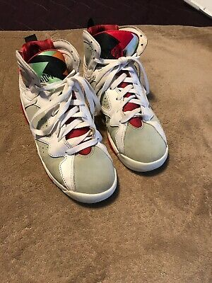 4a272d0c12cfd Nike Air Jordan Retro VII 7 GS Hare White Red Silver Youth SZ 6Y (304774