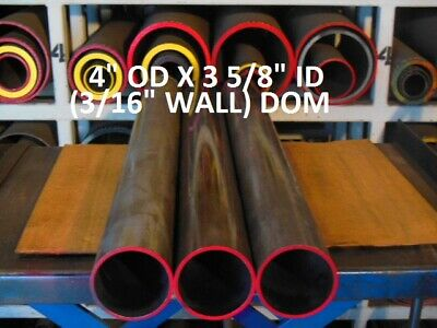 "E0353  Dom Round Steel Tube  4.000 Od  X   3.625 Id  (.187 Wall)   72""  Long"