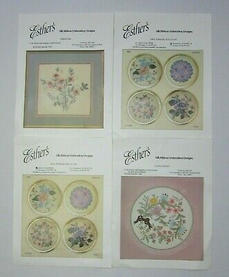 New Esther's Floral Silk Ribbon Embroidery Kit - You Choose