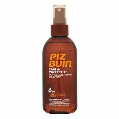 S0563045 52020 Huile Solaire Tan & Protect Piz Buin SPF 6 (150 ml)