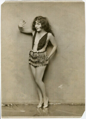 Large Risqué Ann Pennington Early Showgirl Photograph Saucy Jazz Age Pin-Up View