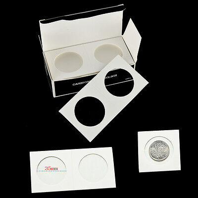 """50Pcs Stamp Coin Holders Cover Case Storage 2X2"""" Flip 35m Tx"""