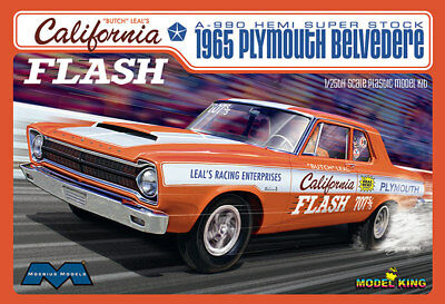 Moebius 1222 California Flash 1965 Belvedere A-990 Super Stock model kit 1/25
