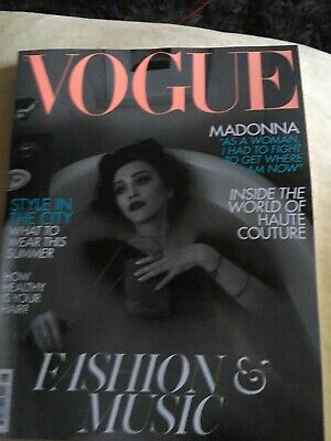 Madonna Vogue Magazine British Edition June 2019 UK New Unseen Whitney