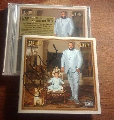 SIGNED Dj Khaled - Grateful 2 cd set factoy sealed with AUTOGRAPHED booklet