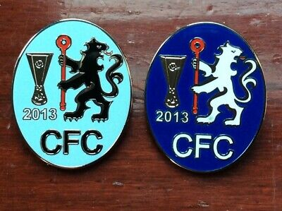 Pair of Chelsea pin badges Europa League winners 2013