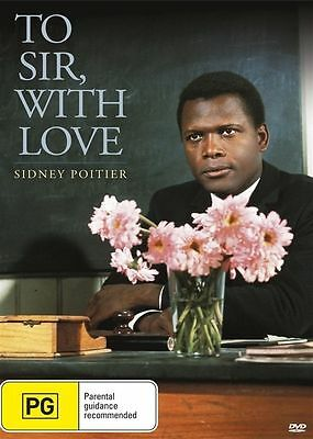 To Sir With Love (DVD, 2015) ( Sidney Poitier )  Region 4 NEW AND SEALED