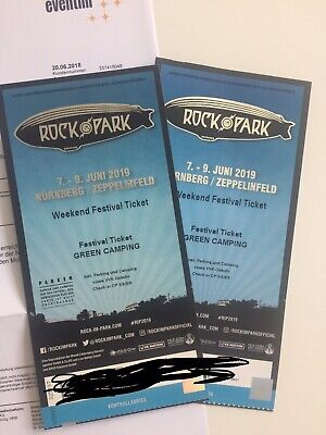 Rock im Park 2019 2x 3-Tagestickets - Green Camping 07 - 09.06.2019