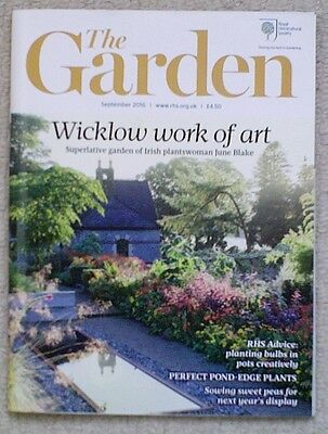 'The Garden' - September 2016 issue - RHS Royal Horticultural Society magazine