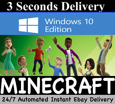 Minecraft: Windows 10 Edition PC, ACTIVATION KEY ONLY FULL GAME NO CD/BOX